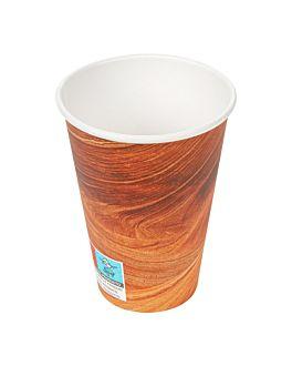 bicchieri bevande calde 1 parete 'arizona' 240 ml 280 + 18 pe g/m2 Ø8/5,6x9,2 cm marrone cartone (1000 unitÀ)