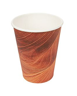 bicchieri bevande calde 1 parete 'arizona' 480 ml 300 + 18 pe g/m2 Ø9/6x13,2 cm marrone cartone (1000 unitÀ)