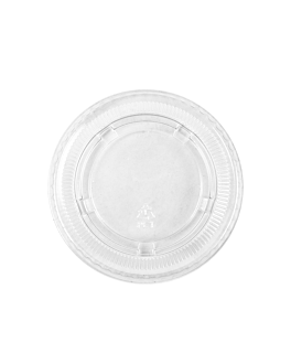 lids for tubs items 130.11/12/13/16/22/24 Ø 7,4 cm clear pet (2500 unit)