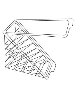 caixa sandwich dupla triangular 11x11x6,5 cm transparente rpet (500 unidade)