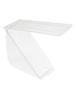 triangular sandwich containers double 11x11x6,5 cm clear rpet (500 unit)