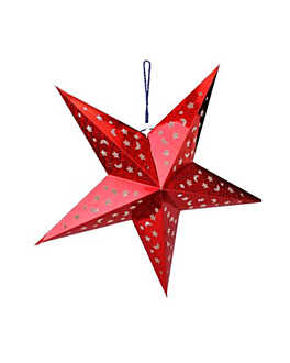 estrellas colgantes Ø 60 cm rojo papel (10 unid.)