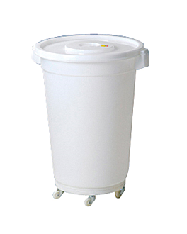 contenedor blanco con tapa 150 l Ø 61,5x82 cm blanco hdpe (1 unid.)