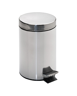 pedal bin with interior receptacle 20 l Ø 29,5x44 cm silver stainless steel (1 unit)