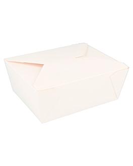 rectangular micro. boxes 1350 ml 305 + 18pe gsm 15,3x12,1x6,4 cm white cardboard (50 unit)