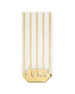 sachets lisere dore 31 g/m2 35µ 14x30,5 cm transparent pp (100 unitÉ)