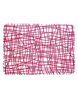 tapis 45,5x32,5 cm rouge ps (40 unitÉ)
