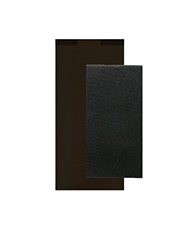 wrapped black napkins 'd.point' 40x32 cm 'just in time closed' 40 + 10pe gsm 11x25 cm black kraft ribbed (300 unit)