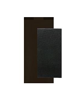 guardanapos pretos emb. 'd.point' 40x32 cm 'just in time closed' 80 + 10pe g/m2 11x25 cm preto kraft verjurado (300 unidade)