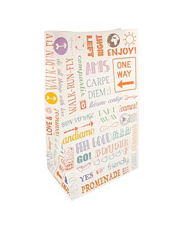 sos bags without handles 'parole' 70 gsm 22+14x37 cm white cellulose (500 unit)