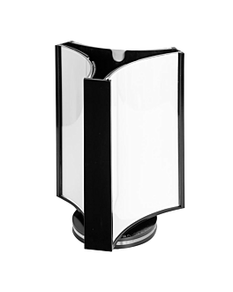 porta menu girevoli 3 facce 8x12 cm trasparente ps (1 unitÀ)