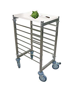 working trolley 7 levels 55,5x38,5x95 cm silver steel (1 unit)