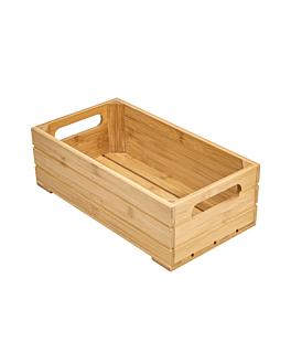scatola buffet gn 1/3 32,5x17,6x10 cm naturale bambÙ (1 unitÀ)