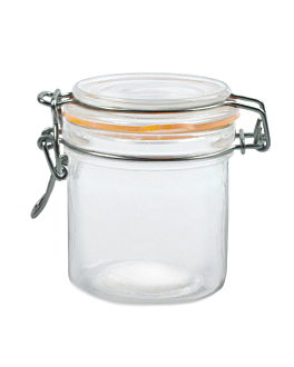 storage jar + clip lid 250 ml Ø 8,5x10 cm clear glass (24 unit)