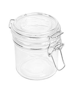 storage jar + clip lid 250 ml Ø 8,5x10 cm clear glass (24 unit)