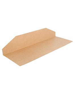 bandejas para bolsas 204.96 275 g/m2 30,5x16,5 cm natural kraft (250 unid.)