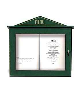 porta menÚs luminoso 60x65x8 cm verde madera (1 unid.)