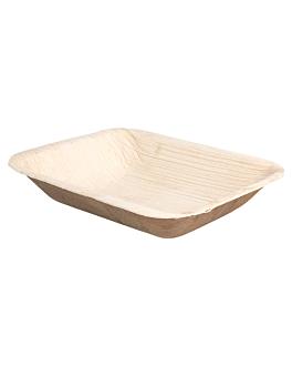 bandejas rectangulares 'areca' 16x12,5x3 cm natural areca (200 unid.)