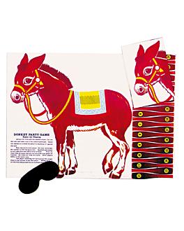 24 juegos burro 58,5x43,5 cm surtido papel (1 unid.)