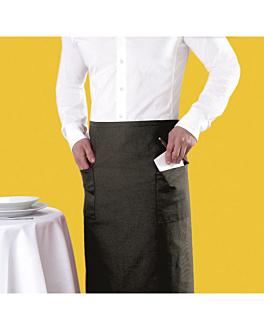 franzÖsische schÜrze mit 2 taschen 95x105 cm schwarz polyester (1 einheit)
