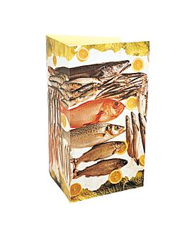 """carta 3 cuerpos """"pescado"""" 47x30 cm surtido cartoncillo (1 unid.)"""