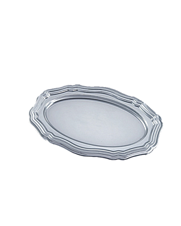 "de luxe trays - design ""luis xv"" 26x40 cm silver pet (5 unit)"