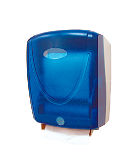 """dispensador automÁtico de papel toalla """"sensor"""" 37x28x19 cm azul abs (1 unid.)"""
