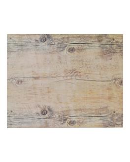 vassoio gn 1/2 imitazione legno 32x26 cm melamina (3 unitÀ)