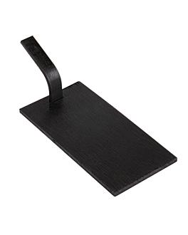mini palas para tapas 10x5 cm negro bambÚ (100 unid.)