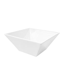 bols carrÉs 1000 ml 17,5x7 cm blanc porcelaine (3 unitÉ)