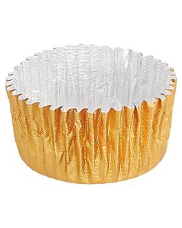 pirottini 'petits fours' Ø 2,9x1,6 cm oro alluminio (1000 unitÀ)