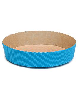 moules cuisson patisserie Ø 15,5x3,5 cm turquoise papier (270 unitÉ)