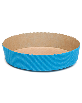 backformen Ø 15,5x3,5 cm tÜrkis papier (270 einheit)