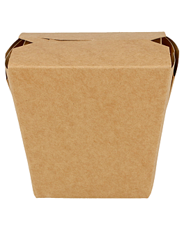 oriental food containers 275 + 25pe gsm 7,7x5,7x9 cm brown cardboard (50 unit)