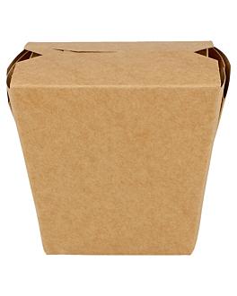 recipientes comida oriental 275 + 25pe g/m2 7,7x5,7x9 cm castanho cartolina (50 unidade)