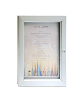 porte menus lumineux din-a3 40x52x3,2 cm argente metal (1 unitÉ)