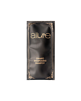 sachets shampooing 'allure' 10 ml 10x5 cm noir pet (1000 unitÉ)