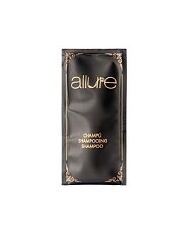 shampoo sachets 'allure' 10 ml 10x5 cm black pet (1000 unit)