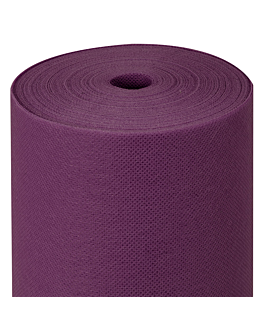 tablecloth pre-cut 120 cm 'spunbond' 60 gsm 1,20x50,4 m violet pp (1 unit)