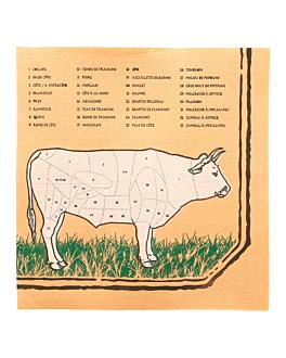 ecolabel napkins 'double point - chicago' 18 gsm 40x40 cm assorted tissue (1200 unit)