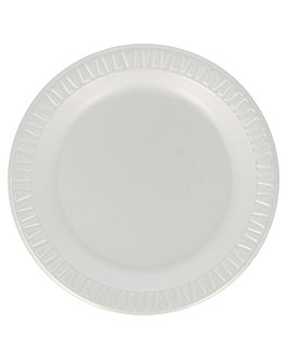 """prato em """"foam"""" Ø 15 cm branco pse (1000 unidade)"""