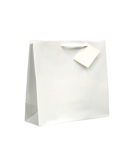 bolsas boutique, asa cordÓn 19+10x27 cm blanco (100 unid.)