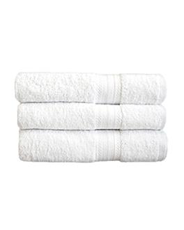 serviettes de bain 500 g/m2 70x140 cm blanc coton (24 unitÉ)