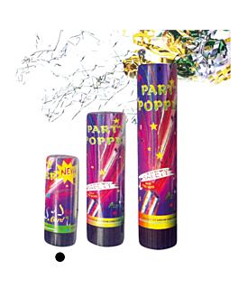 24 tubos party popper 10,5 (h) cm surtido (1 unid.)
