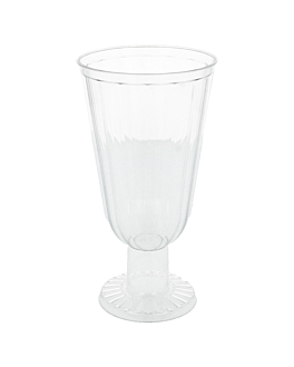 injected cups for ice cream 250 ml 7,3x14 cm clear ps (160 unit)