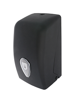 zig-zag toilet dispenser 13,5x13,5x27,7 cm black abs (1 unit)