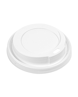 high dome lids for cups 360/480 ml  white ps (1000 unit)