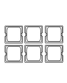 tapa 1/6 para cÓdigos 181.75 17,6x16 cm plateado inox (1 unid.)