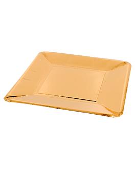 pratos quadrados 365 g/m2 20x20 cm dourado cartÃo (250 unidade)