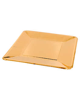 square plates 365 g/m2 20x20 cm gold cardboard (250 unit)